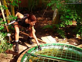 Lara Croft and chemical mixtures by TanyaCroft