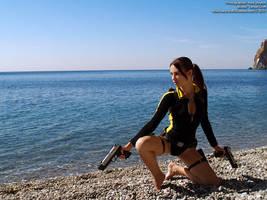 Lara Croft wetsuit - sea by TanyaCroft