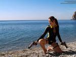 Lara Croft wetsuit - sea