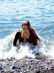 Lara Croft wetsuit - like a mermaid
