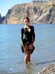 Lara Croft wetsuit - posing by TanyaCroft