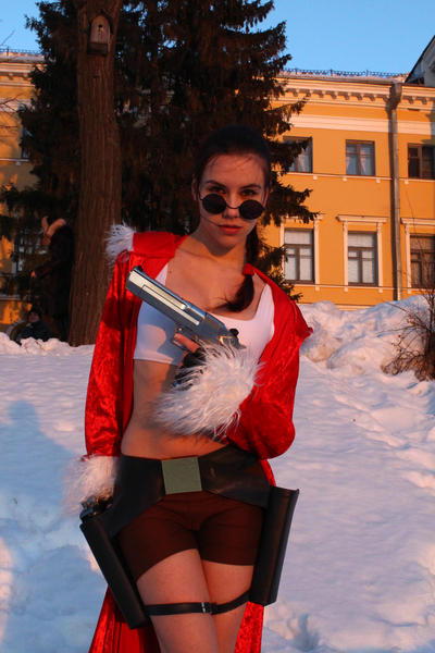 New Year's Lara Croft with deagle by TanyaCroft