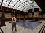 Tomb Raider I cosplay - pool
