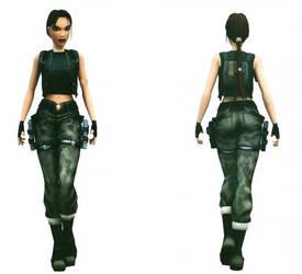 Lara Croft: camo pants