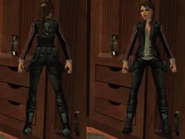 Lara Croft: biker costume