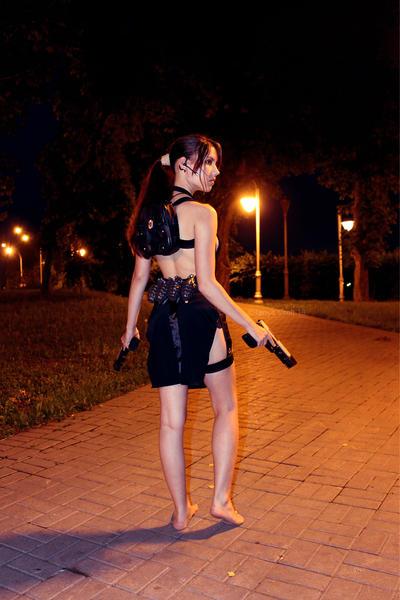Tomb Raider Lara Croft ripped dress - back by TanyaCroft
