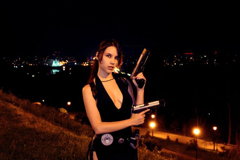 Tomb Raider Lara Croft ripped dress - portrait by TanyaCroft