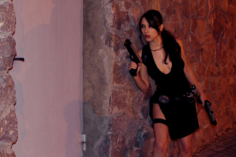 Tomb Raider Lara Croft ripped dress - creep up by TanyaCroft