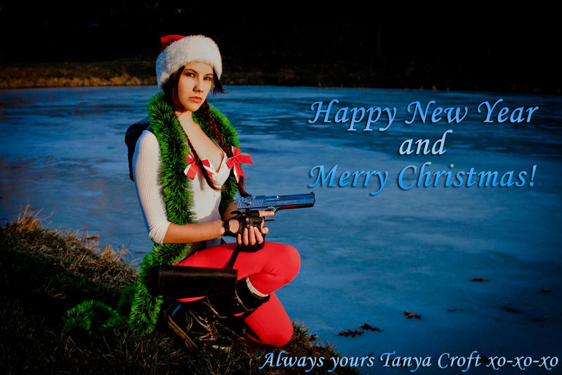 Lara Croft - Happy New Year and Merry Christmas! by TanyaCroft
