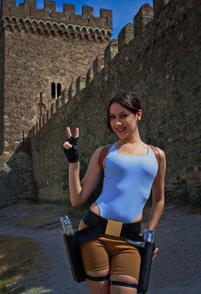 Lara Croft - say cheese! by TanyaCroft