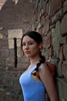 Lara Croft - near the wall by TanyaCroft