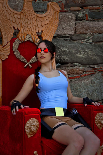 Lara Croft - on the throne by TanyaCroft
