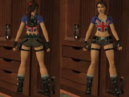 Lara Croft: union jack