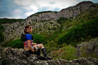 Lara Croft - mountains by TanyaCroft