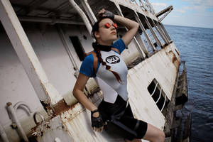 Lara Croft SOLA wetsuit - sunglasses by TanyaCroft