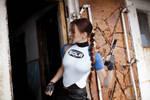 Lara Croft SOLA wetsuit - broken door