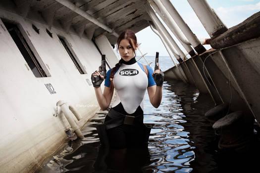 Lara Croft SOLA wetsuit - a pair of brownings