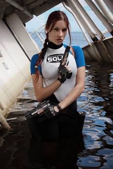Lara Croft SOLA wetsuit - dangerous girl