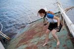 Lara Croft SOLA wetsuit - sliding
