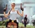 Lara Croft Tomb Raider Classic cosplay