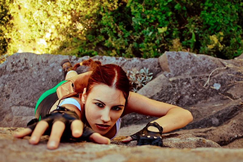 Lara Croft - climbing up by TanyaCroft