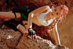 Lara Croft - looking down by TanyaCroft