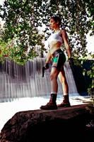 Lara Croft - waterfall by TanyaCroft