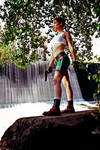 Lara Croft - waterfall