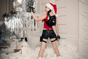 Christmas Lara Croft - back by TanyaCroft