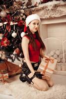 Christmas Lara Croft - with present by TanyaCroft