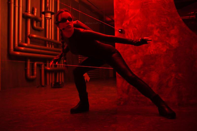 Tomb Raider Lara Croft catsuit - beware of lasers! by TanyaCroft