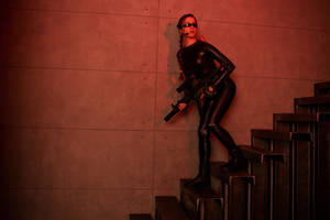 Tomb Raider Lara Croft catsuit - alertness by TanyaCroft