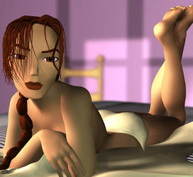 Lara Croft - bed