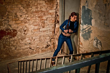 Lara Croft jeans cosplay - broken door by TanyaCroft