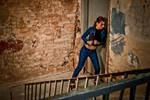 Lara Croft jeans cosplay - broken door