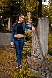 Lara Croft jeans cosplay - St. Aicard's Graveyard by TanyaCroft