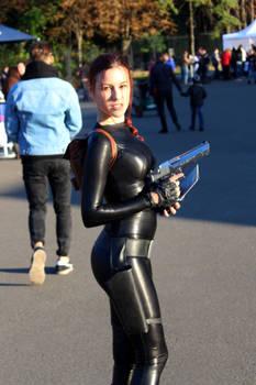 Lara Croft cosplay: catsuit improvisation 1