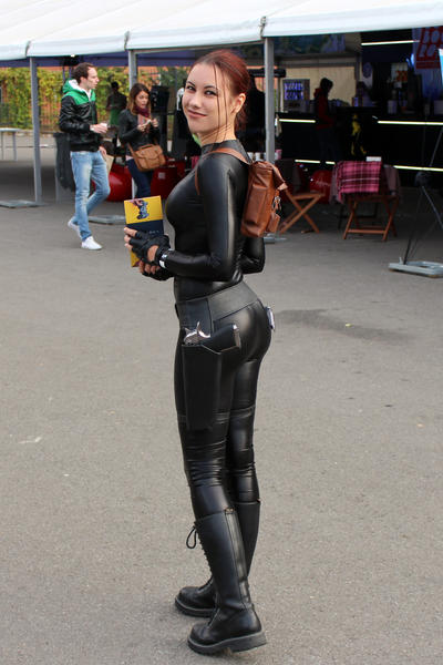 Anya black latex catsuit 2
