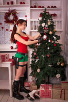 New Year's Lara Croft - decorating  by TanyaCroft