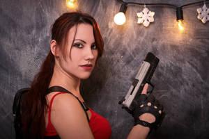 New Year's Lara Croft - lights by TanyaCroft