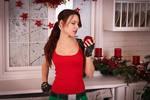New Year's Lara Croft - tasty apple