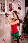 New Year's Lara Croft - wanna cup of tea?