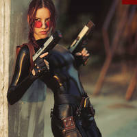 Lara Croft cosplay - catsuit improvisation 1 by TanyaCroft