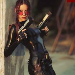 Lara Croft cosplay - catsuit improvisation 1