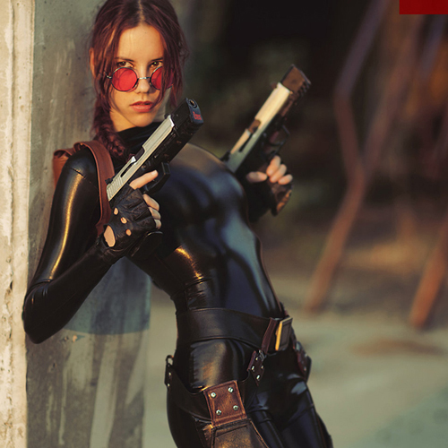Lara Croft cosplay - catsuit improvisation 1