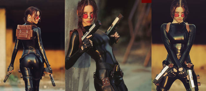 Lara Croft cosplay - catsuit improvisation 3