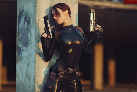 Lara Croft cosplay - catsuit improvisation 5