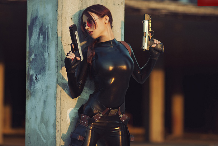 Lara Croft cosplay - catsuit improvisation 5 by TanyaCroft