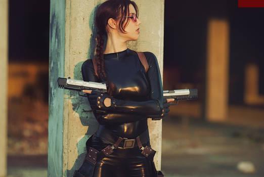 Lara Croft cosplay - catsuit improvisation 4