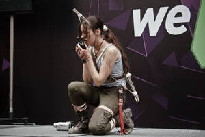Lara Croft cosplay - WeGame 11 by TanyaCroft